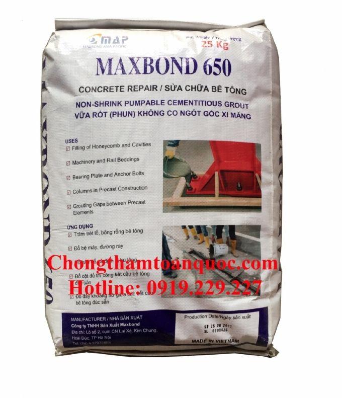 Maxbond 650 - Vữa không co ngót gốc xi măng cường độ cao