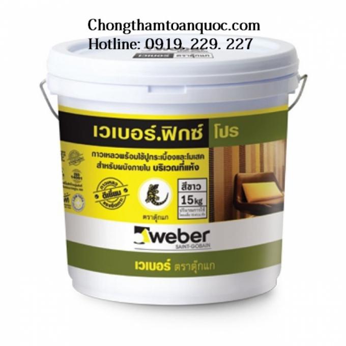 Keo dán gạch Weberfix Pro - Chuyên dùng cho ốp tường nội thất