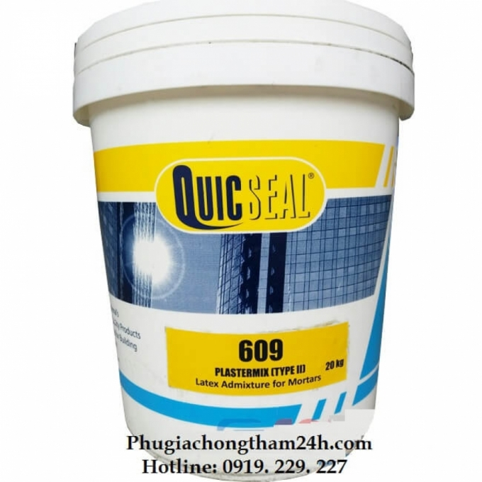 Phụ gia chống thấm Latex Acrylic - Quicseal 609