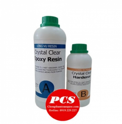 Crystal Clear Epoxy Resin - Keo Epoxy trong suốt AB 312