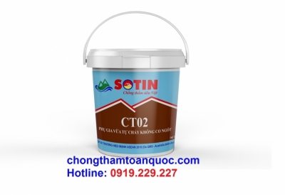 Phụ gia vữa tự chảy không co CT02 SOTIN