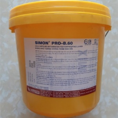 Simon Pro B60 màng nhũ tương chống thấm đàn hồi cao cấp